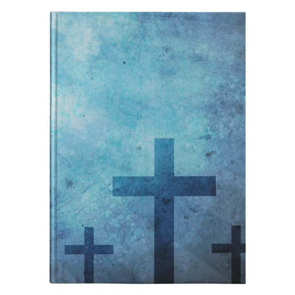 No. 14 - Three Wooden Crosses Hardcover Journal