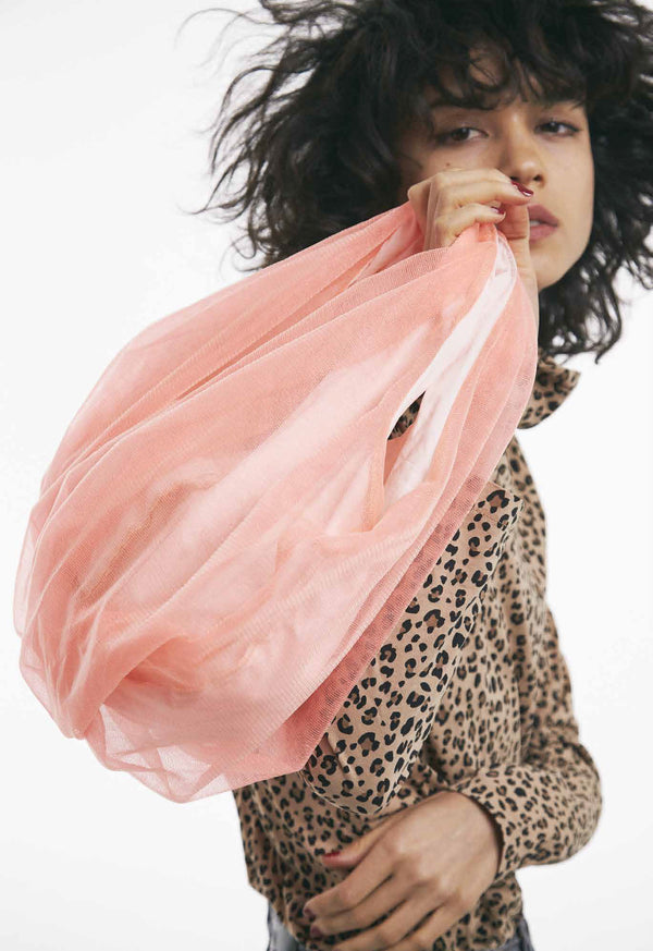 NO:H-174 | Name:balloon tulle bag S | Color:PINK | Style:Bag【HELOYSE】【ネコポス選択可能】