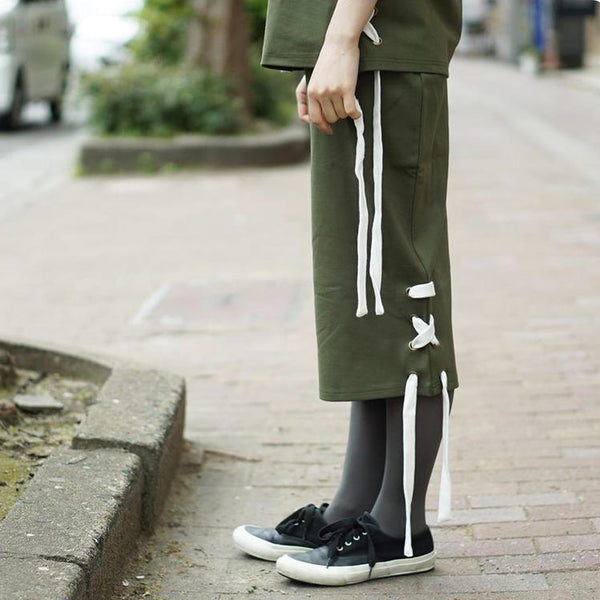 STYLE Name:late night SKIRTS   Color:olive【THE FIFTH LABEL】
