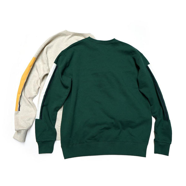 OLDSYLE SWEAT     Color:OATMEAL / GREEN   【Palme d'Or】