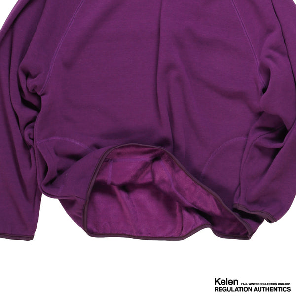 No:KL20FCS71 | Name:VEGA | Color:PURPLE | Style: Mockneck Sweat【KELEN】