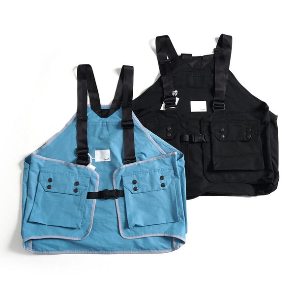 NO:VR20SS-SP-VS01 | Name:  STREET HUNTING VEST | Color:Black/Light Blue | Style:【VARDE77】
