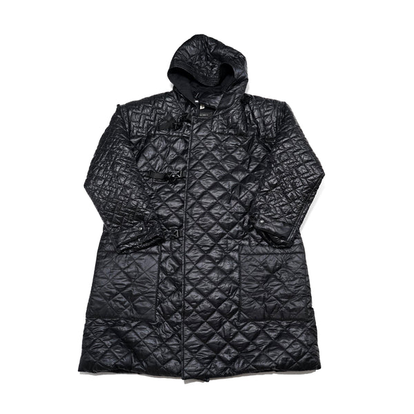 No:M28002 | Name:Quilted Duffle Coat | Color:Diamond Dotera Fill 7oz Black | Style: 【MONITALY】