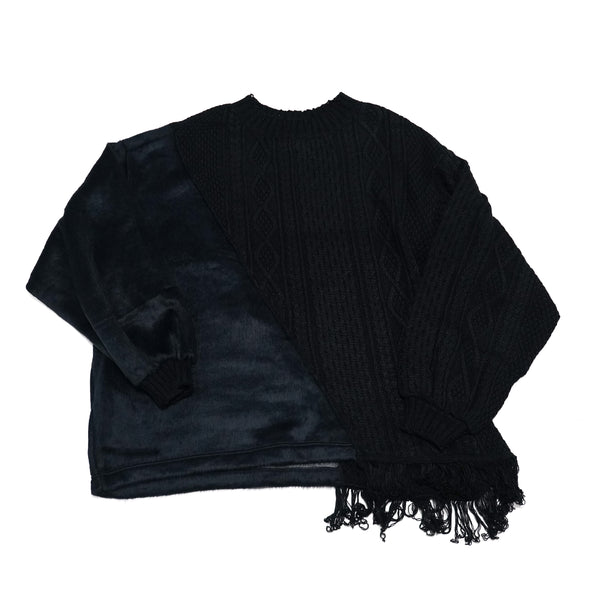 No:MK-21A-K-19-1 | Name:PARASYTE-LONG | Color:Black | Style:Long Knit 【Masterkey】