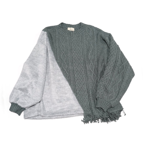 No:MK-21A-K-19-1 | Name:PARASYTE-LONG | Color:Gray | Style:Long Knit 【Masterkey】