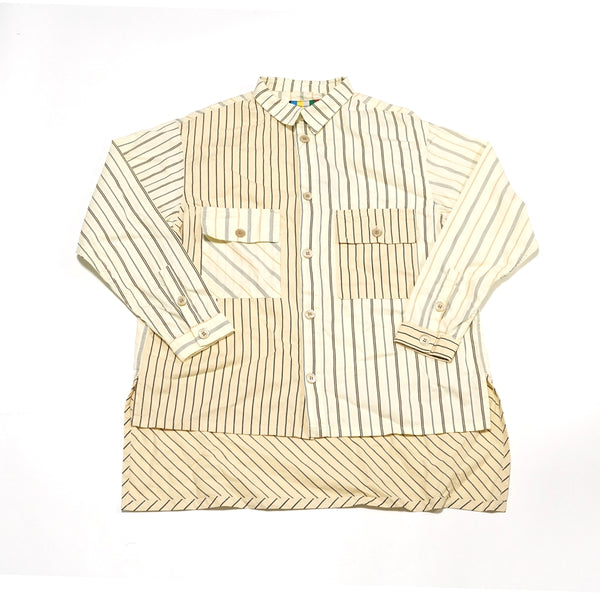 No:voo-1035 | Name:LONGTAIL SHACKET | Color:STRIPE | Size-Q/K【VOO】