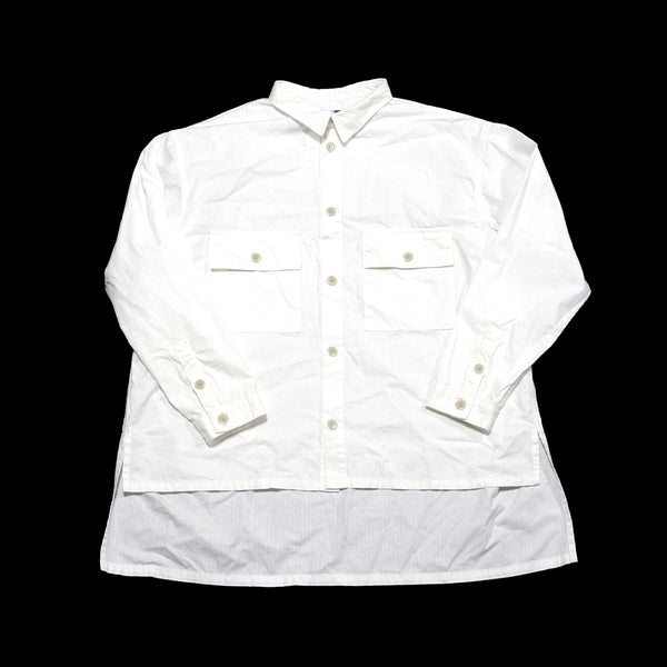 No:voo-1035 | Name:LONGTAIL SHACKET | Color:WHITE | Size-Q/K【VOO】