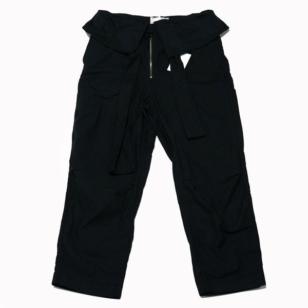 No:KL20FPT51 | Name:COME | Color:BLACK | Style: WAIST TURN DOWN PANTS【KELEN】