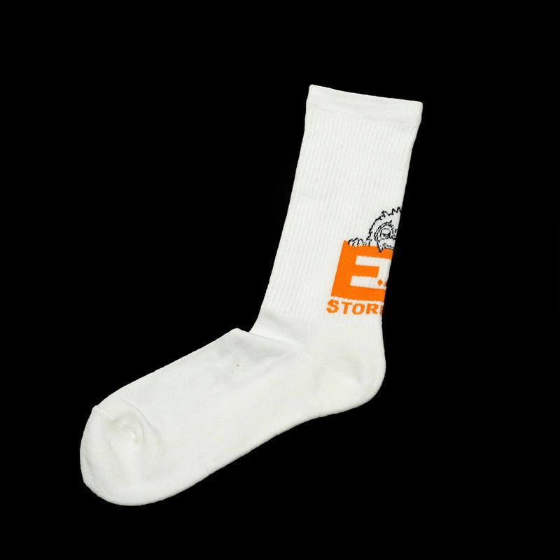 No:BB-STR | Name:EAT SOCKS |  Color :WHITE  【BILLY BUDDUSKY ビリーバダスキー】【ネコポス選択可能】