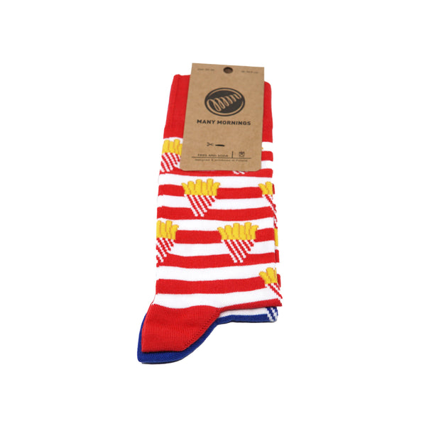 many mornings reguler socks /Fries And/ 【many mornings メニ―モーニングス】【ネコポス選択可能】