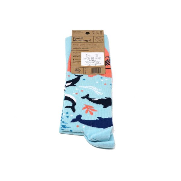 many mornings reguler socks /OceanLife/ 【many mornings メニ―モーニングス】【ネコポス選択可能】