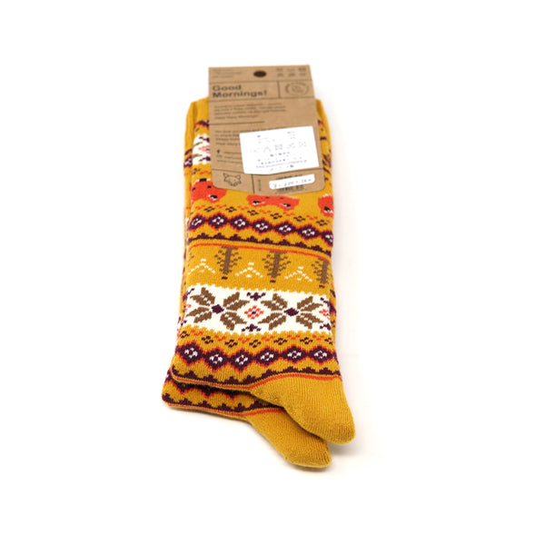 many mornings reguler socks  / Warm Fox (Warm)   / 【many mornings メニ―モーニングス】【ネコポス選択可能】