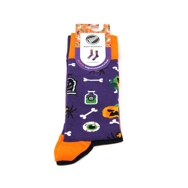many mornings reguler socks  / Frankenfeet / 【many mornings メニ―モーニングス】【ネコポス選択可能】