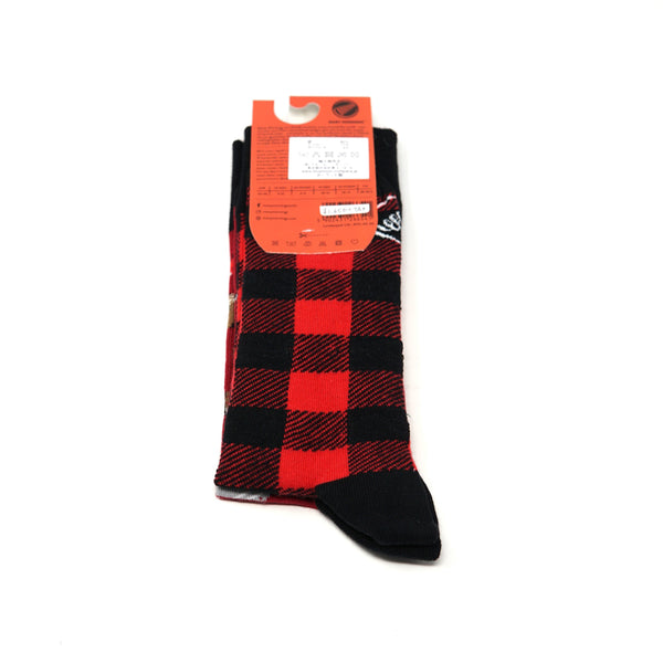 many mornings reguler socks  /Lumberjack / 【many mornings メニ―モーニングス】【ネコポス選択可能】