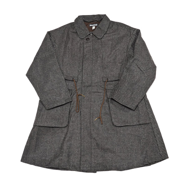 No:M28021 | Name:Josh Coat | Color:Wool Flannel Plaid Dk.Brown | Style: 【MONITALY】
