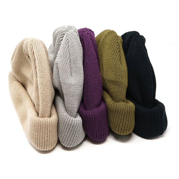 No:rl-18-935cm | Name:Roll Knit CAP  ロールニットキャップ  Color:Black/Beige/Gray/Olive/Purple  【Racal ラカル】【ネコポス選択可能】
