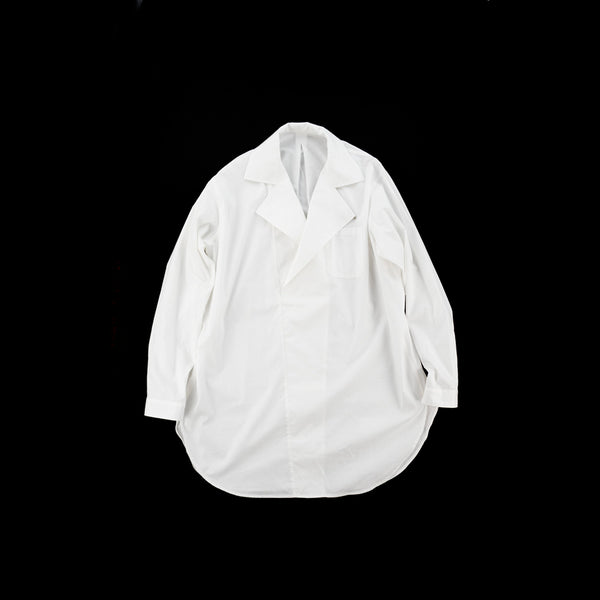 No:vr21ss-sd-sr03 | Name:DOUBLE NECK LONG SHIRTS | Color:WHITE  | Size-Free【VARDE77】
