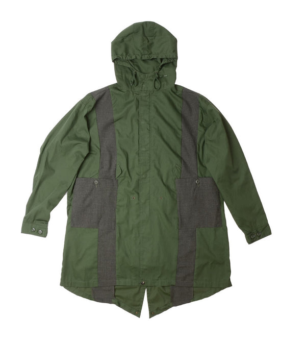 NO:VOO-1015A | Name:2nd FORM COAT | Color:OLIVE | Style:【VOO】