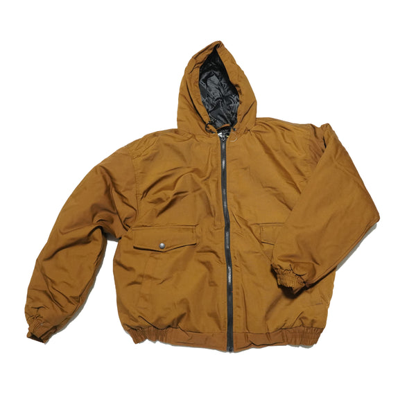 NO:MCJ101 | Name:cotton insulated hooded jacket | Color:spice | Style:【WFS】