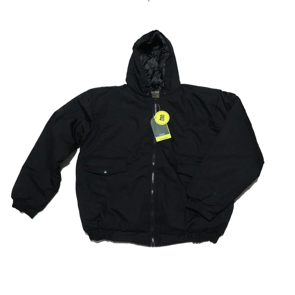 NO:MCJ101 | Name:cotton insulated hooded jacket | Color:black | Style:【WFS】