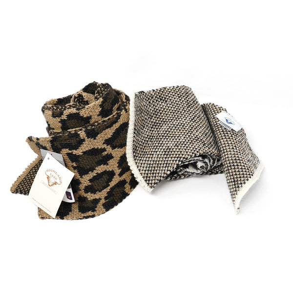 NO:HL-0011 | Name:British Wool LP Scarf | Color:Color:1-Camel/Black/Mole 2-Aran/Black/Camel | Style:【HIGHLAND】