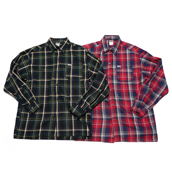 NO:ART-2000 LS FL | Name:FLANNEL L/S SHIRTS | Color:NS-005(Green)/NS-010(Red) | 【CALTOP】【EIA】