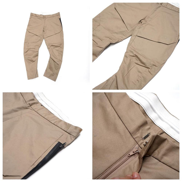 SOLID ACTIVE PANTS   Color:BEIGE BLACK 【Palme d'Or】