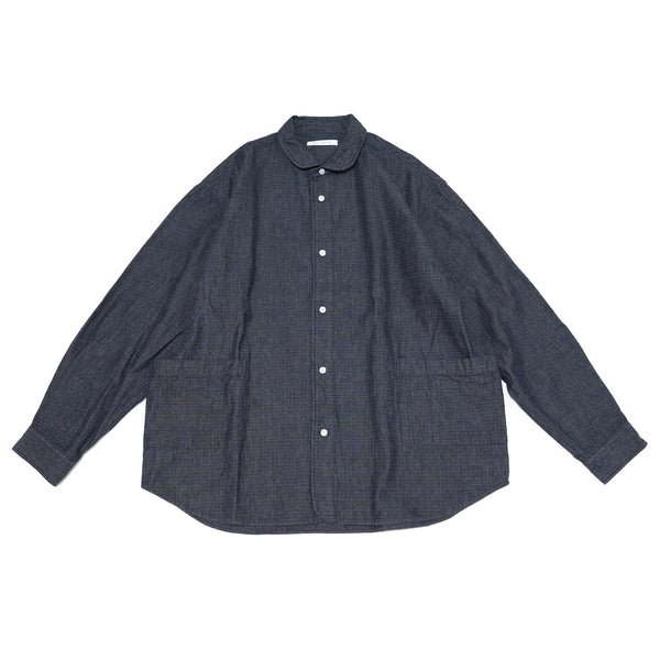 No:SIDEPOCKET2021SS | Name:Sidepocket Shirts Ripstop Indigo | Color:Navy | Size-M/L【CATTA】