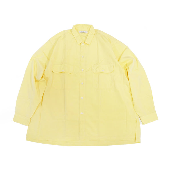 No:WPOCKETSH2021SSA | Name:W Pocket Shirts 100/2 | Color:Chambray Yellow | Size-M/L【CATTA】