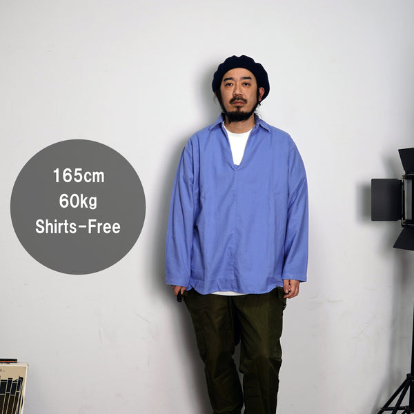 Mex Kaftan Shirts  Color:Hospital Blue/Fatigue Green 【CITYLIGHTS PRODUCTS】