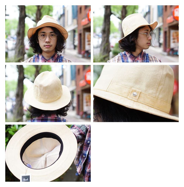 Washable Paper Cloth  HAT  Color:ナチュラル【Racal】