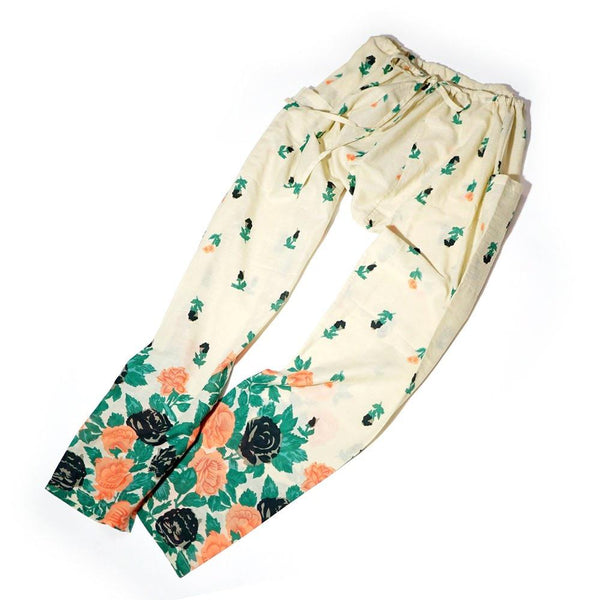 HIPPIE PANTS Color:Floral Beige【WANDERERS ワンダラース】【State Of Gorgia】