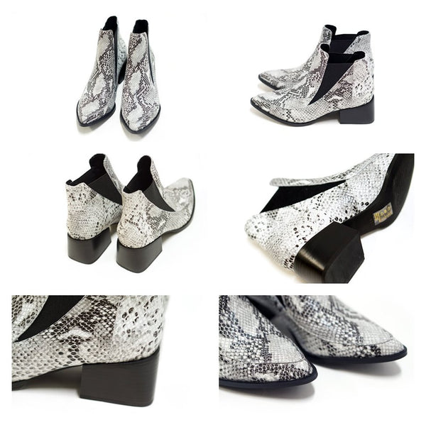 RICO BOOTS Color:BLACK/WHITE SNAKE【SOLSANA ソルサナ】