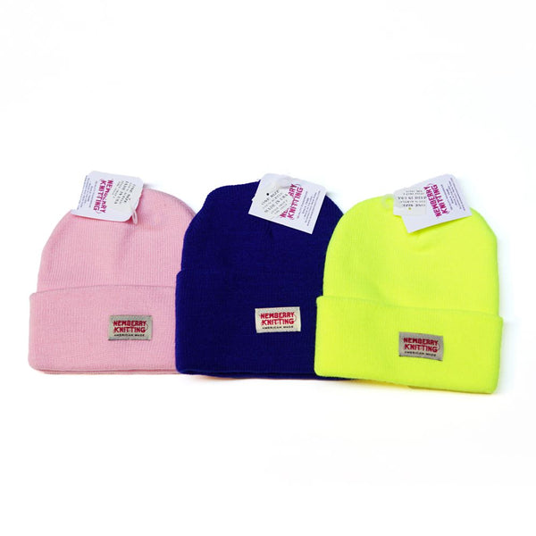 Acrylic fiber Hat beanie /WIDE Color:H.pink/Royal/S.yellow/【NEW BERRY KNITTING】