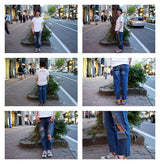 Item Name:BLUE CULT HOOLIGANS LOW WAIST RELAXED STRAIGHT LEG JEAN / ColorBLUE CULT 【ONE TEASPOON】