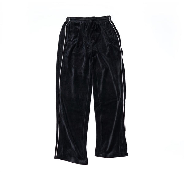 velour track pants ベロアトラックパンツ Color:black/grey【sweatsedo】