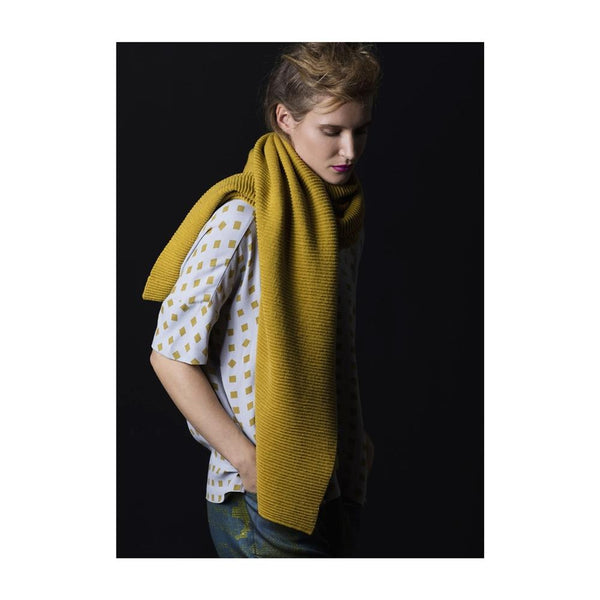 No:SC0129W17-SC0128W17 | Name:Ottoman Knit scarf | Color:Sulphur/mulberry 【ELK】