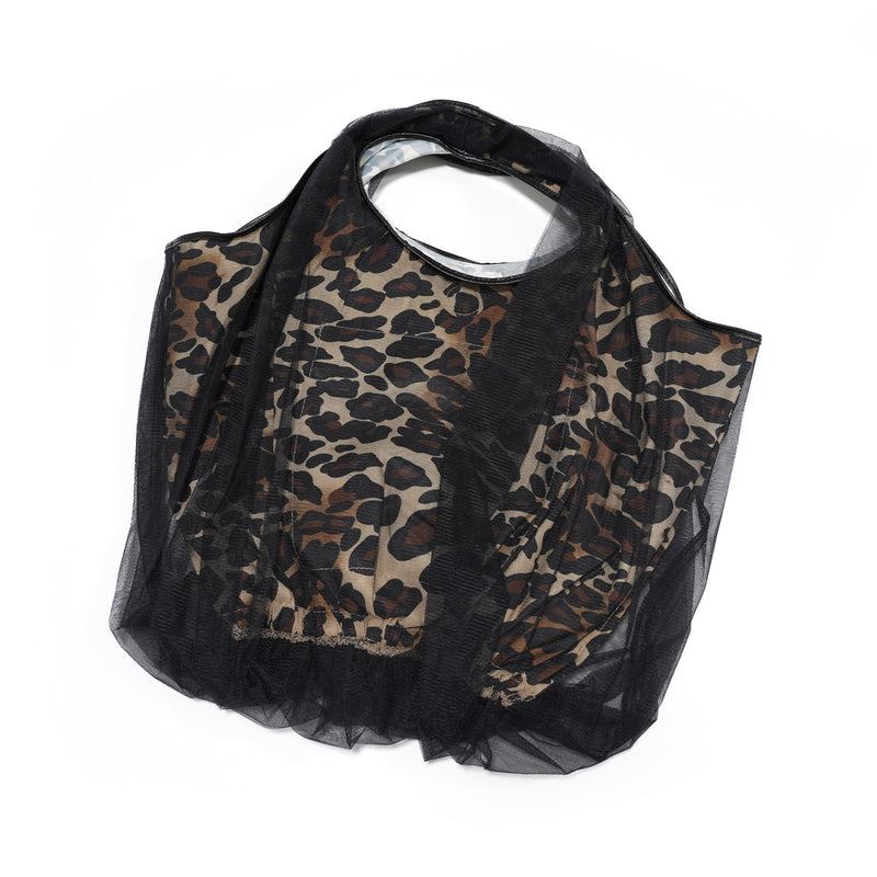 No:H-195 | Name:balloon tulle leopard bag S | Color:LEOPARD【HELOYSE】