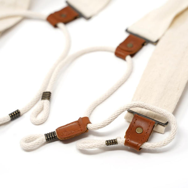 20's Scientific suspenders Color:White 【PHABLIC×KAZUI】