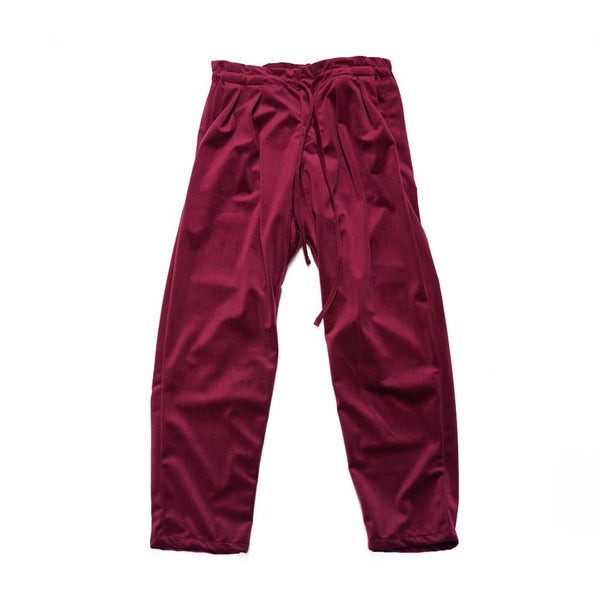 m26302 Item Name:Drop Crotch Pants | Color:Silky Velvet 8.5oz Maroon【MONITALY】