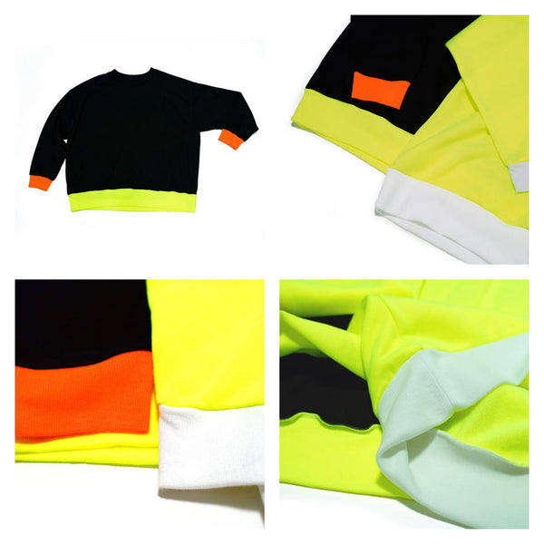 Neon Crew Color:Yellow /Black【VOO】