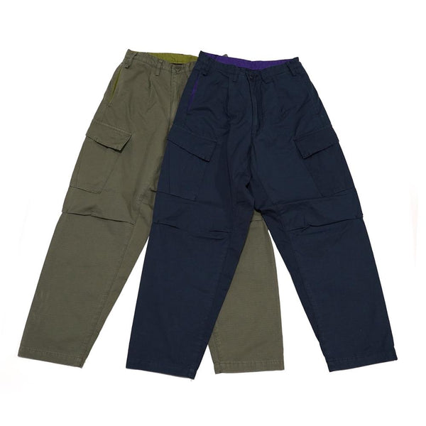 Item Name:C.C Cargo Rip Pants  Color:NAVY / OLIVE【A.D.A.N】【Thinq】