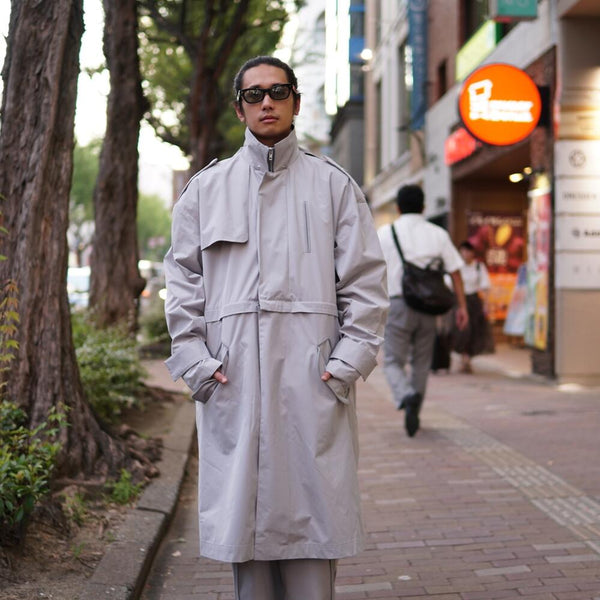 Name:Vest In Trench Coat  Color:GRAY 【SEIVSON】 【(A)crypsis】