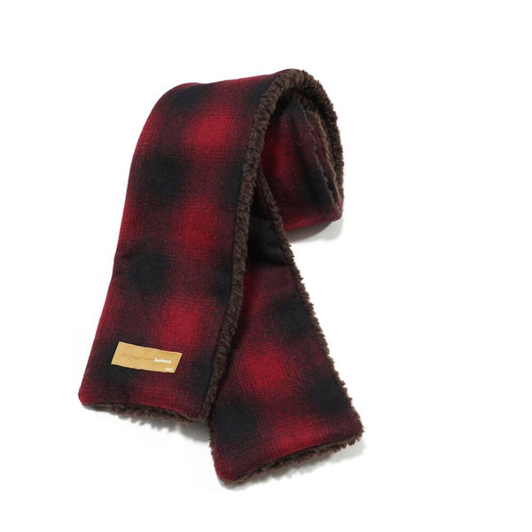 REVERSIBLESTOLE  Color:D -Red check-Brown boa【VOO】