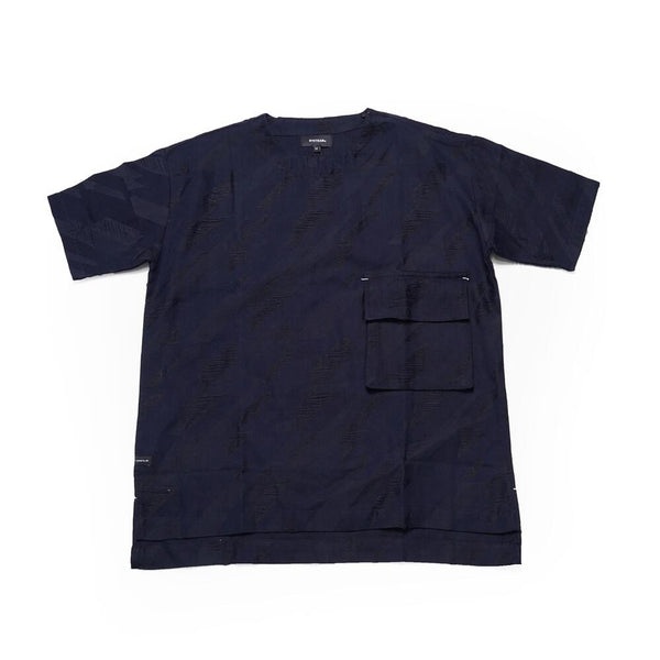 No:DST-B-2020-DB |Name:houndstooth pattern pocket Tee | Color:BLUE | 【DYCTEAM】