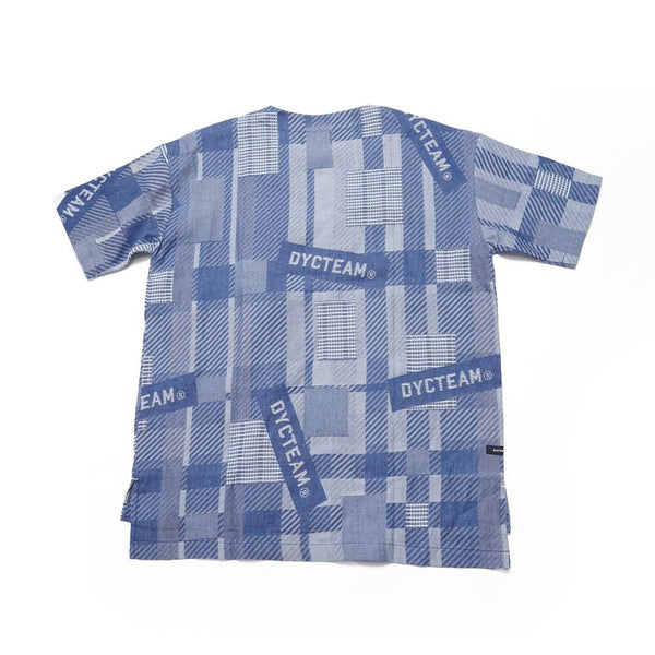 No:DLP-B-2027-DB |Name:logo jacquard pocket Tee | Color:BLUE | 【DYCTEAM】