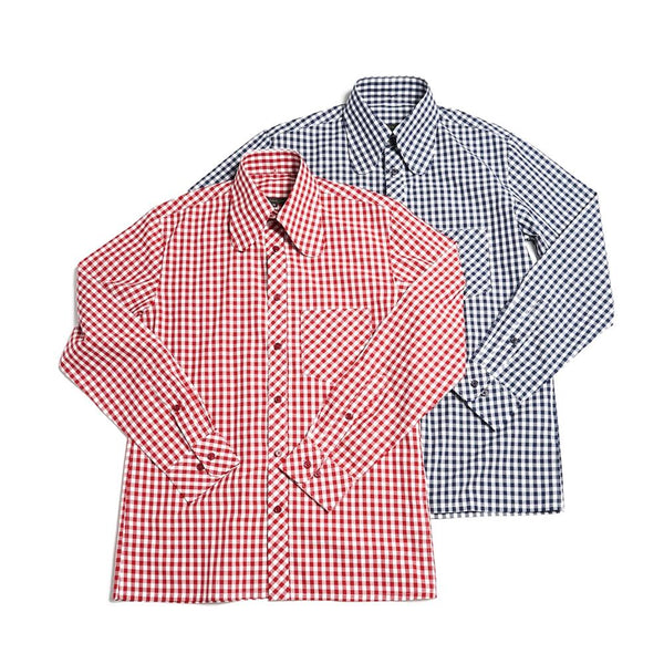 BEAGLE COLLOAR SHIRTS    Color:NAVY/RED【ORIGINAL JOHN】
