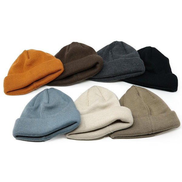 No:rl-20-1130 | Name:Roll Knit CAP  ロールニットキャップ  Color:Black/Brown/Beige/LtBeige/Chacoal/D.Green/Old Orange/Steel Blue 【Racal ラカル】【ネコポス選択可能】