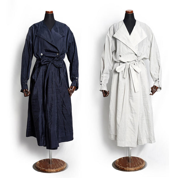 No:PKDS-007-N | Name:No coller dress coat | Color:P.Gray /  Black/ Beige【PHABLIC×KAZUI ファブリック バイ カズイ】