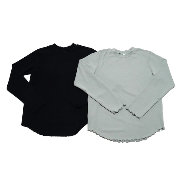 No:LKL20FBL28 | Name:Ard | Color:MINTGREEN/BLACK | Style:Crew Neck Cut & Sew【KELEN LADYS】